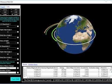 Orbital Maneuver Simulation with GUI
