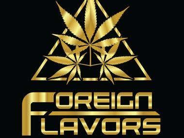 A golden leaf logo