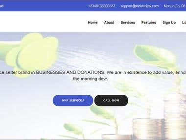 Peer to peer donation website