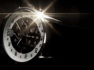 Luxury watches - 3D modelling, photo realistic visualization