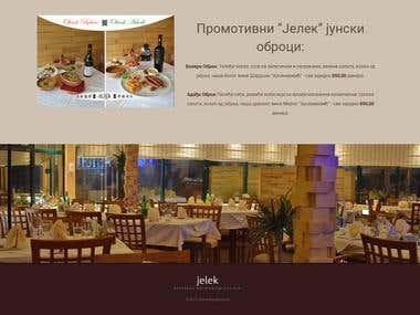 "Website redesign/Wordpress - Restaurant ""Jelek"""