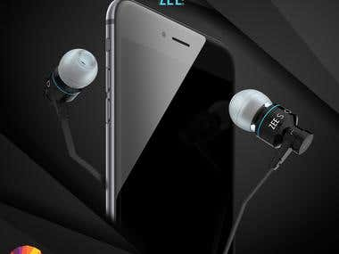 3d Earphones design