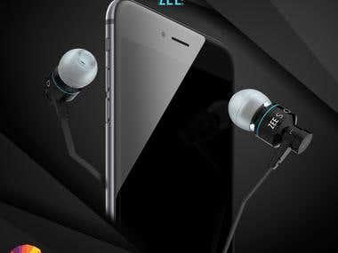 3d Earphones design