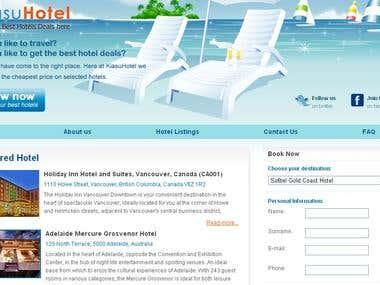 Hotels & Tour Website