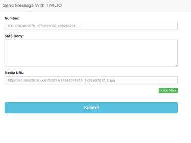 Send SMS with Twilio