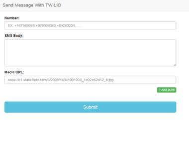 Send SMS with Twilio
