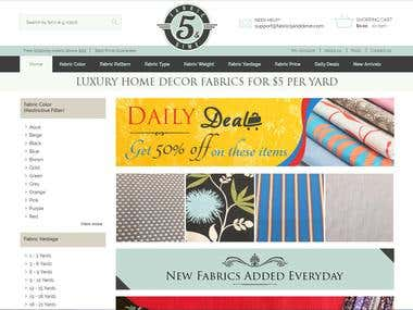 Fabric 5 and dime