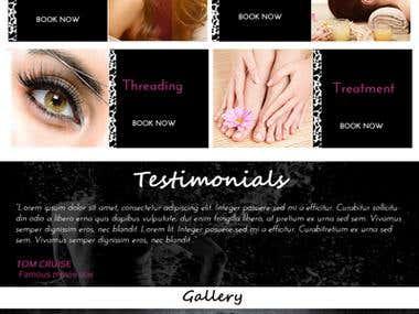 3 Sister Saloon Website Design & Development