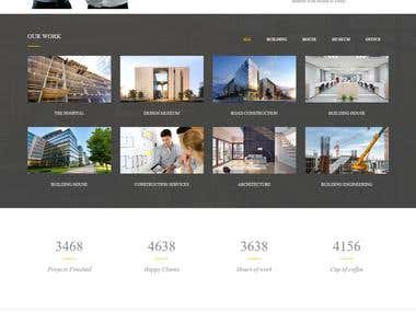 PSD website with Photoshop