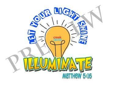 ILLUMINATE logo for a church event