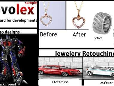 Logo-making.Jewelery-retouch.Background-change.color-change