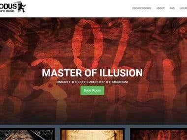 Escape Room Online Booking Website