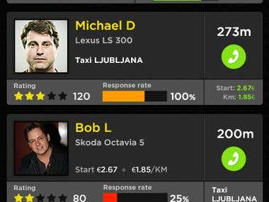 Taxi Booking Screen Design