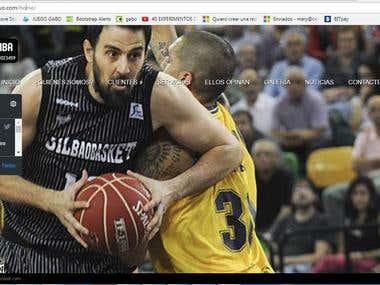 Sitio web de Scouth basquetbolistas