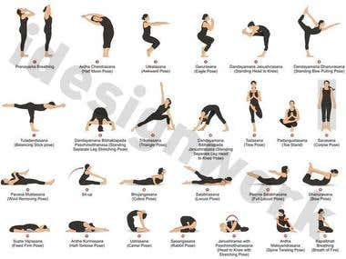 Yoga Posses Illustration
