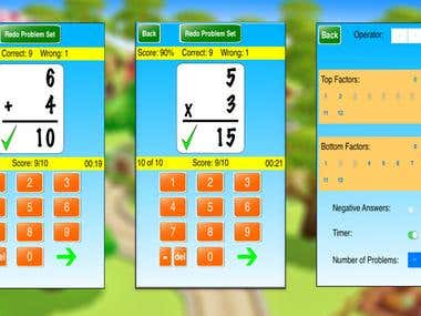 simple education mobile application