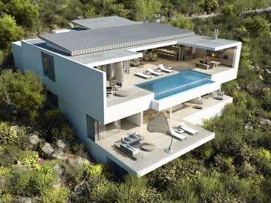 Alexandropoulos Oubaai House 3D Render