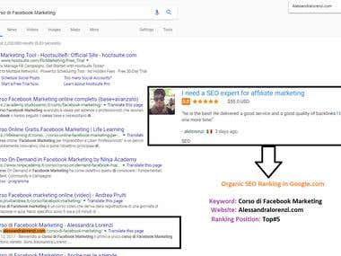 Organic SEO ( Position Top# 5 )