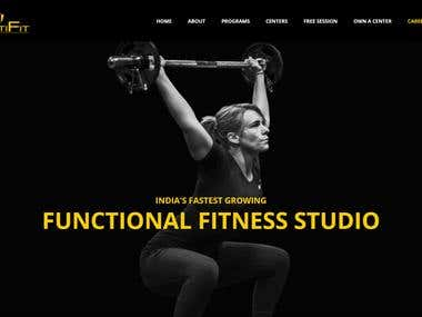 Fitness Website design/http://multifit.in/