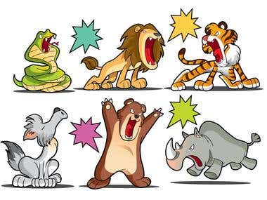 animals cartoon character design