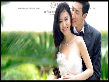 wedding photography website - WP