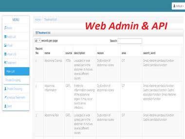 Web Admin Panel and Rest API