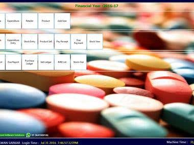 Wholesale-retail medicine shop software