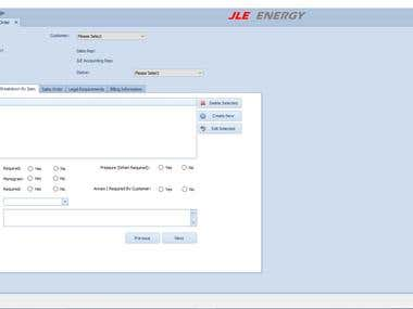 An app to manage workflow for JLE Energy Corp
