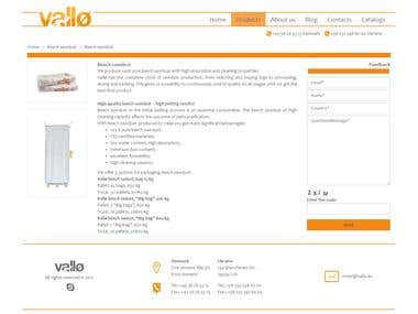 Website for Vallo company