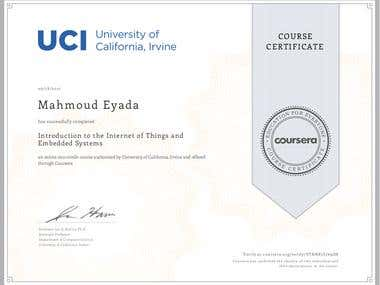embedded systems and IOT certification
