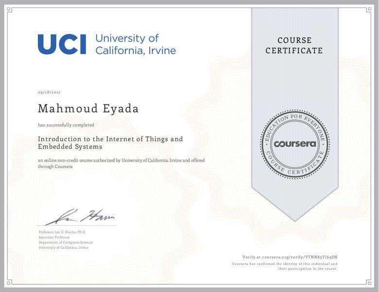 Embedded Systems And Iot Certification Freelancer