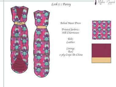 Womenswear flats using Adobe Illustrator & Photoshop
