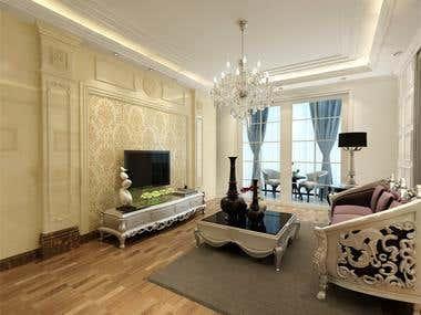 Interior design in 3ds MAX