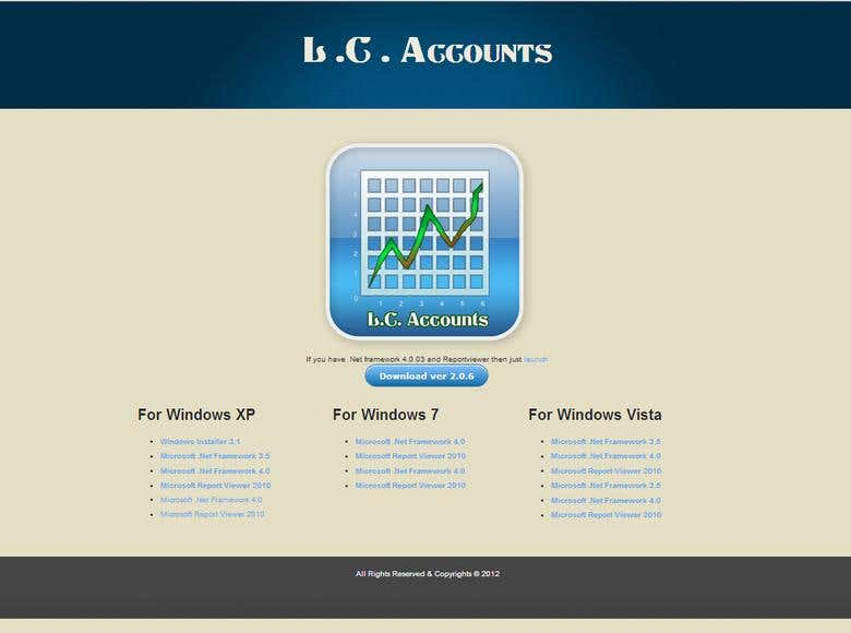 Account Software Single Page Website | Freelancer
