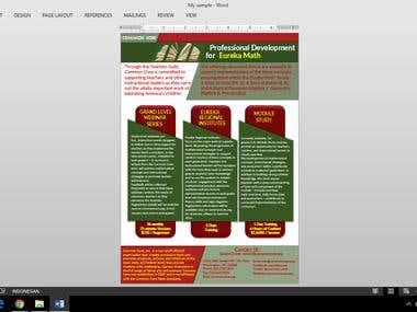 Brochure in Word doc