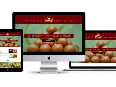 Modern web design Mockup for Sweets shop