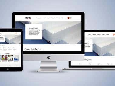 Modern web design Mockup