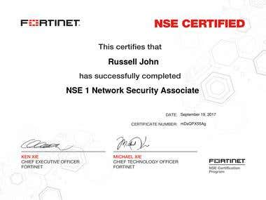 NSE 1 Network Security Associate