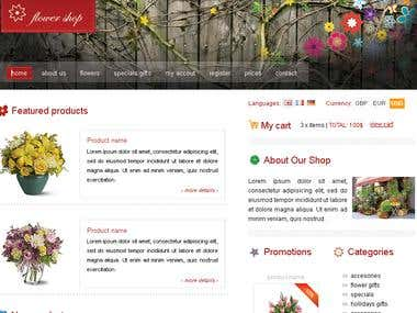 Online Flowers WebSite With PayPal Integrated
