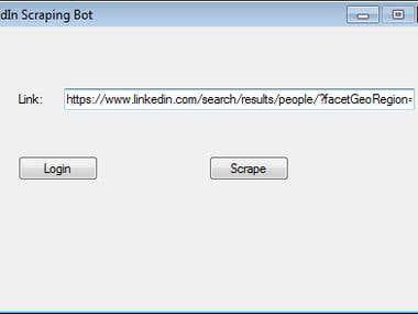 LinkedIn Scraping Bot