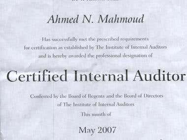 CIA Certificate