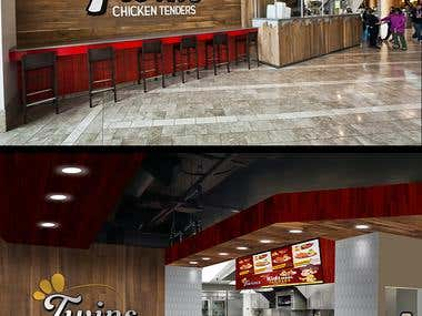 Twins Chicken tender display menu design