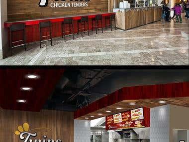 Twins Chicken tender display menu design