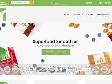 Website developed for nutrition advisor.