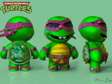 3D Modeled and textured - Turtles Mini