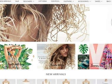 Shopify site for Girls