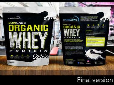 Organic Whey Protein Pouch Packaging