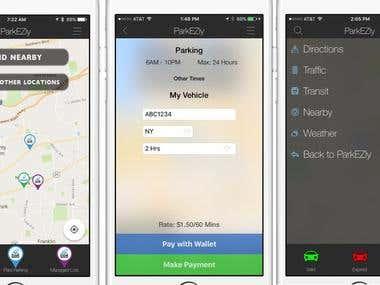React Native mobile app (ParkEZly)