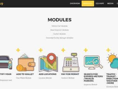 Internal web admin interface of ParkEzly