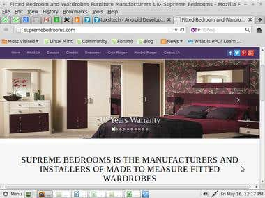 Website design/develop- Bedrooms website